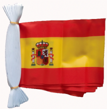SPAIN (WITH CREST) BUNTING - 9 METRES 30 FLAGS